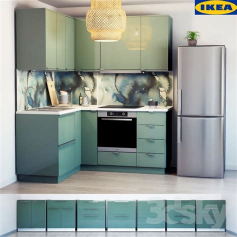 ikea cuisine 3d 3d models kitchen ikea kitchen kallarp