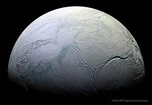 Saturn's Moon Enceladus, Taken by Cassini. | Rebrn.com