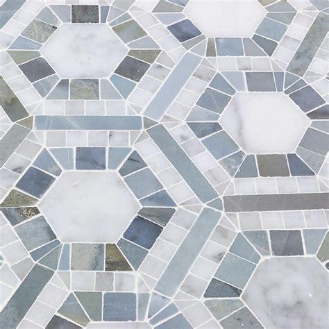 Marble Mosaic Tile by Splashback Tile Kosmos And Moonstone Hexagon