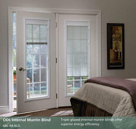 french patio doors with blinds between glass doorpro