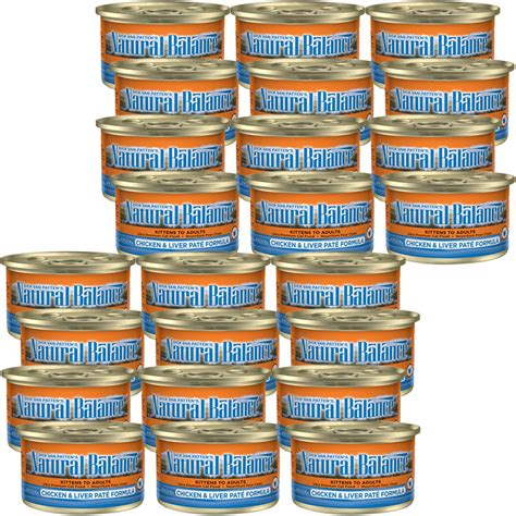 natural balance chicken liver pate canned cat food