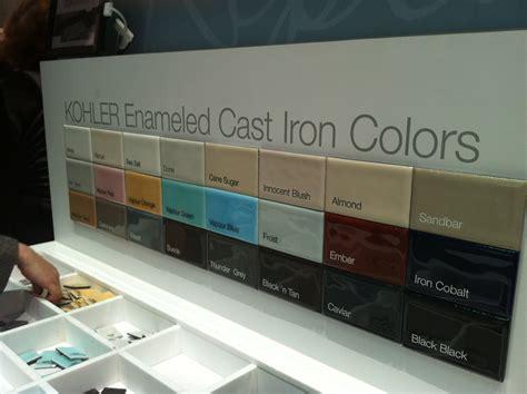 kohler enameled cast iron sink colors the best of the 2012 kitchen bath industry show tuttle