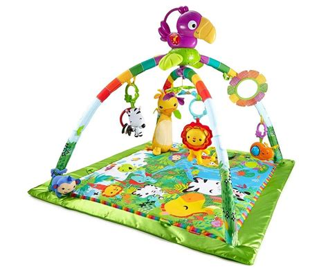 fisher price rainforest melodies lights deluxe gym