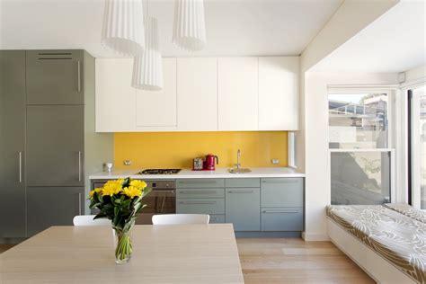 yellow accent kitchens   shine