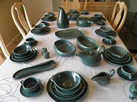 64 Piece Russel Wright American Modern Dinnerware by