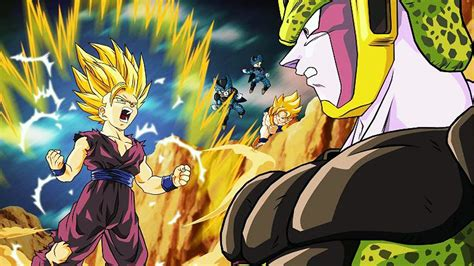 Goku Vegeta Fist Bump Dragonball Z Gohan Kills Cell Youtube