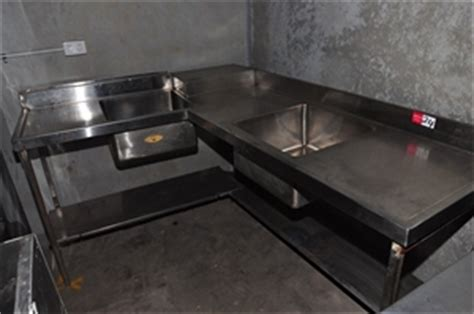 recycled kitchen sinks corner sink unit stainless steel with 2 x sinks and 1760