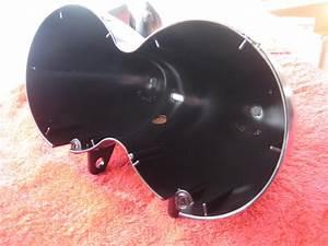 Fat Bob Headlight Bucket Assembly Satin Black P  C