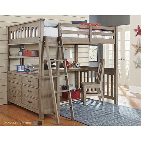 boys loft bed with desk ne kids highlands full loft bed with desk bedroom