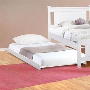Vita Single Size Roll Out Trundle Bed in White | Buy ...