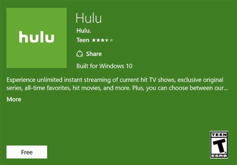 Universal Hulu Windows 10 App Now Available For Download