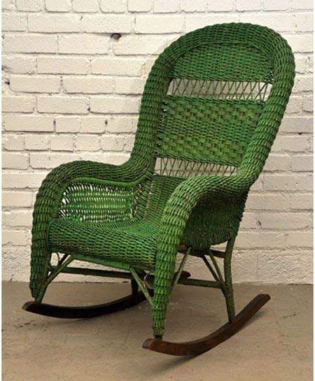 this vintage bohemia rocking chair emerald pantone color of the year 2013
