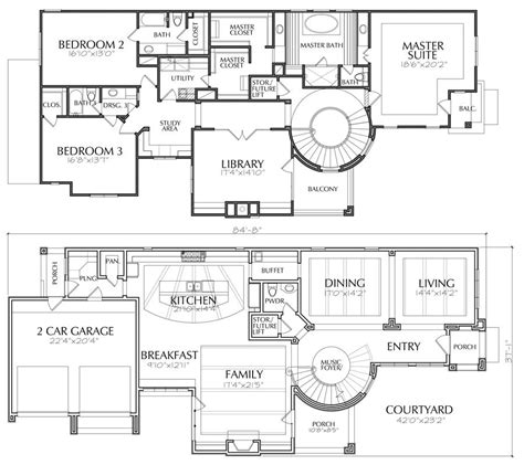story house plans  story home blueprint layout