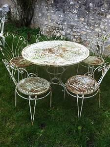 Table De Jardin Fer Forgé : table de jardin en fer forge ~ Louise-bijoux.com Idées de Décoration