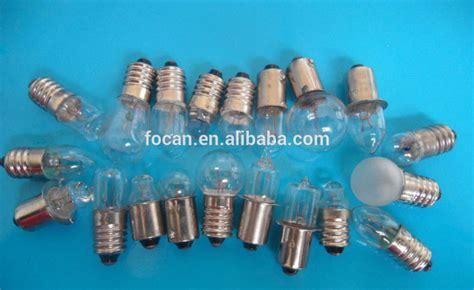 E10 Screw Base Flashlight Bulb With 3.5v;4.8v;6v ;8v;12v