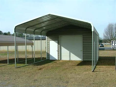 Metal Carport With Storage Steel Carports Boat Storage