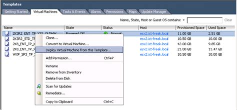 Convert To Template Grayed Out Vmware by Vsphere Deploy Template Grayed Out Ict Freak Nl