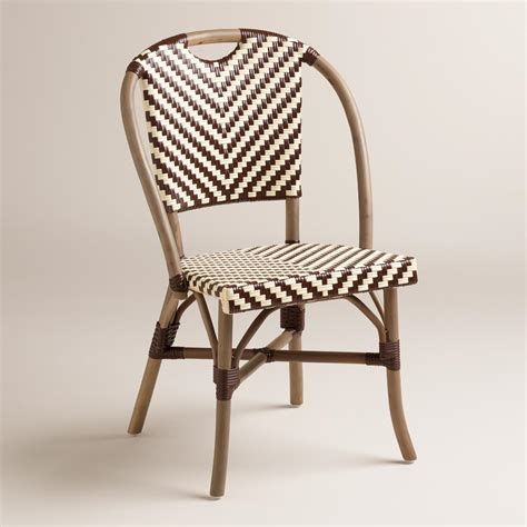 brown and clarabella cafe chairs set of 2 world
