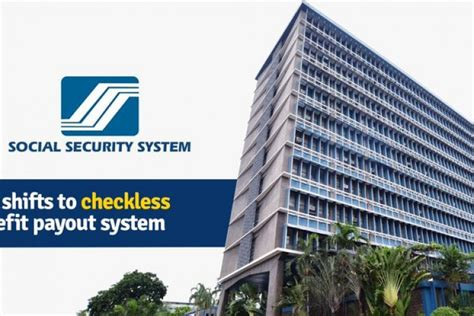 sss shifts  checkless benefit payout system philippine