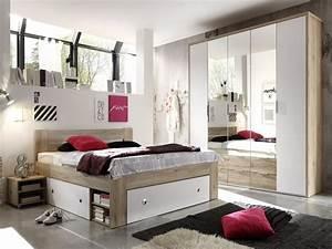 Komplett Schlafzimmer : conny komplett schlafzimmer eiche san remo weiss 140 x 200 cm ~ Pilothousefishingboats.com Haus und Dekorationen