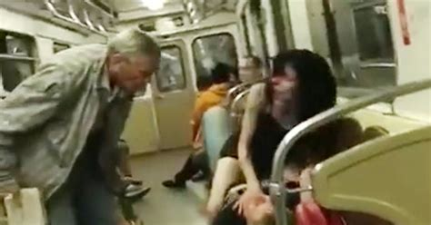 randy couple attempting to have sex on train stopped by