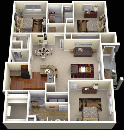 denah rumah sederhana  kamar tidur  dimensi