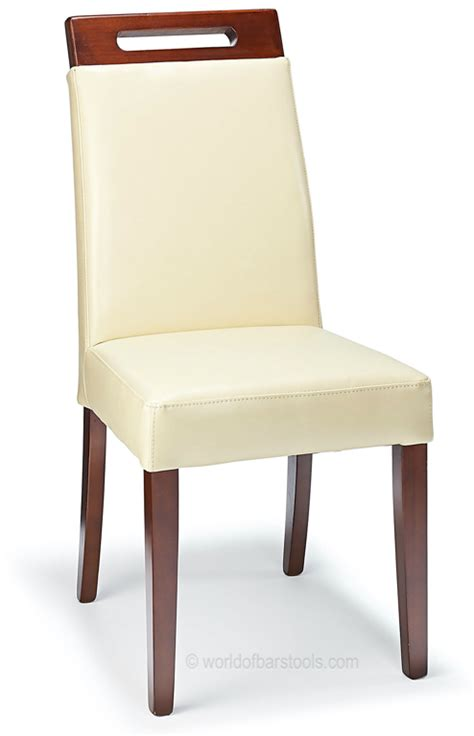 modena dining chair leather walnut