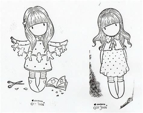gorjuss colouring disegni bambine pinterest