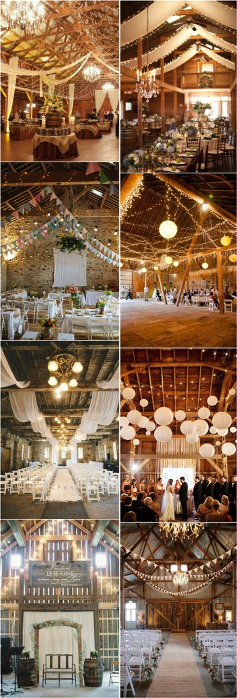 30 indoor barn wedding decor ideas with lights deer pearl flowers