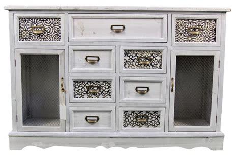 meuble bas rangement bois 9 tiroirs 124 5x34x82cm