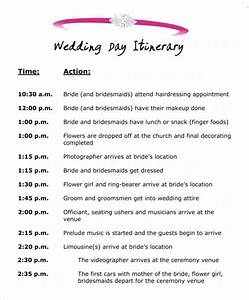 wedding itinerary template 8 download free documents in With wedding ceremony itinerary template