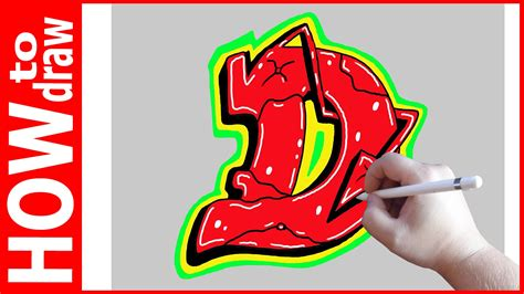 How To Draw Graffiti Letters D № 1