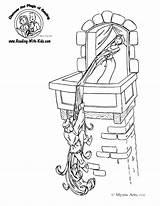 Coloring Fairy Pages Tale Rapunzel Tales Castle Barber Sheet Fairytale Printable Dragon Sheets Drawing Cartoon Sketch Tangled Princess Sayfaları Boyama sketch template