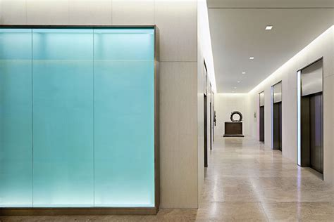 Backlit Glass Elevator Call Lanterns