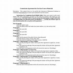 commission contract template resume template sample With commission only contract template