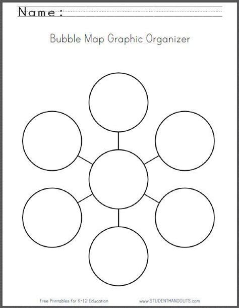 bubble map graphic organizer worksheet   print