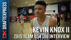 Kevin Knox II 2015 Team USA U16 Interview - DraftExpress ...