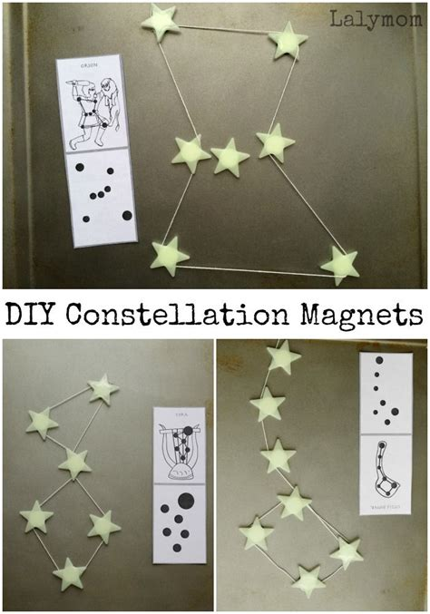 constellations  kids connecting diy star magnets