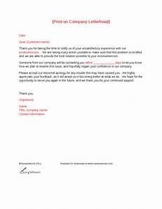 client complaint response letter template hashdoc With customer response letter templates