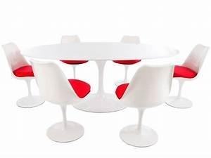 Tisch Mit Stühlen : oval tisch saarinen mit 6 st hlen ~ Indierocktalk.com Haus und Dekorationen