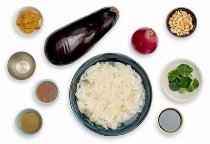 Noodles Tofu Shirataki Miso Nasturtium Eggplant Leaves