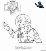 Coloring Skin Leviathan Fortnite Printable sketch template