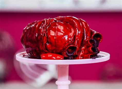 Realistic Cake Shaped as a Human Heart, giving Your Heart