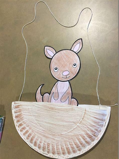 kangaroo craft storyhour zoo preschool zoo crafts
