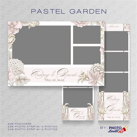 wedding photo booth template pastel garden photoshop psd files photo booth talk