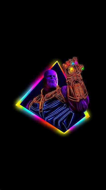 Neon Thanos Avengers Infinity War Wallpapers Android