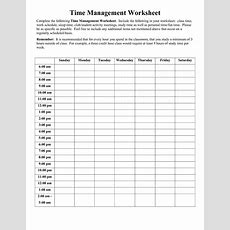 18 Best Images Of Time Management Schedule Worksheets  Free Time Management Worksheet, Weekly