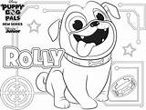 Coloring Puppy Rolly Disney Pals Pages Dog Printable Pug Activity Colorir Sheets Cartoon Para sketch template