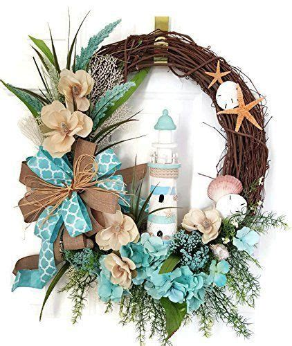 coastal door wreaths lighthouse coastal wreath seashell wreath summer wreath