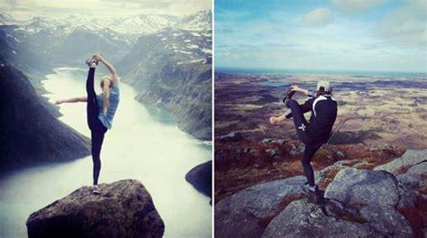 recreate yoga pose  top  mountain twistedsifter